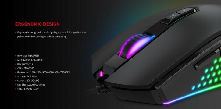Souris HAVIT MS814 RGB backlit programmable gaming